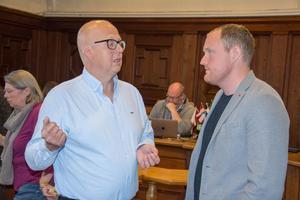 Bosse Svensson (C) och Niklas Daoson (S).