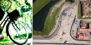 """""""De första råden till Moraborna blir ju att cykla eller gå för då är dessa trafikproblem minimala"""" skriver Oskar Lind. Foto: Karin Grip/TT/Nisse Schmidt DT/montage"""