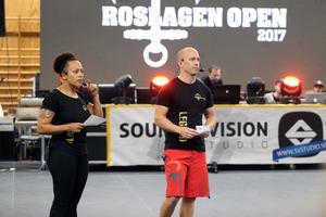 Carola Andersson Mellqvist och Per Mattsson agerade speaker under tävlingen.