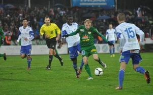 Jesper Medén är en av spelarna som inte har något kontrakt med Dalkurd nästa år. Foto: Mattias Thorén/DT