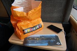På tåget, vad man behöver för att överleva 5 timmar.