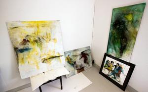 Målningar på gång.
