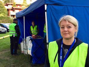 Anna Österberg från Missing People var en av dem som ledde sökinsatsen.