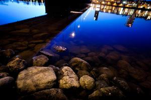 Här, där Tegsbron går över Umeälven, anföll Hagamannen sitt sista offer i december 2005. Hovrätten skriver om den utdragna attacken: