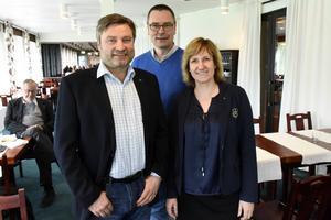 Peter Helander, Mikael Thalin och Anna Hed avslutade Inlandstinget med en lunch på Moraparken.