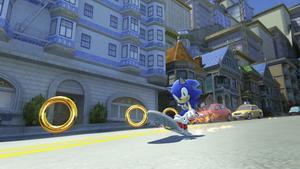 Med modern grafik kan ett plattformsspel med Sonic se ut så här 2011. Även om Sonic inte längre alltid är snabbast i spelvärlden bjuder nya Sonic generations ändå på hisnande snabba banor.