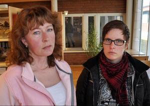 Anna Maria Jonsson och Katrin Holmlund, två av brevskrivarna som fällde Quicklund.