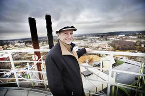 Mikael Strandberg medger att han är lite höjdrädd.