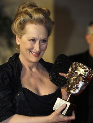 Trångt på prishyllan hemma. Meryl Streep vann ännu ett pris.