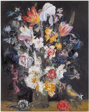 Heikki Marila, Flowers I, olja på duk, 2008.