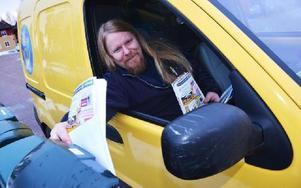 Stefan Nugos ser till att posten alltid kommer fram. Foto: Stefan Rämgård/DT