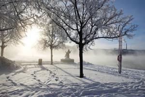 Till helgen väntas snö och mer kyla i länet.