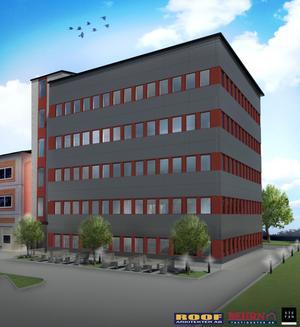 Nytt kontor. Behrn bygger åt Atlas copco.Foto: Behrn