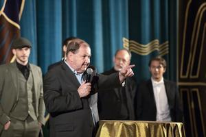 Regissören Roy Andersson är festivalens hedersgäst och talade på invigningen.