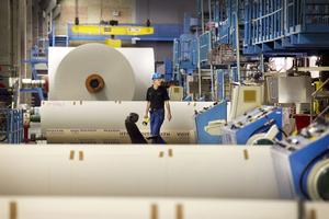 Iggesunds bruk stoppade tillfälligt produktionen i samband med arbetet med den nya sodapannan.