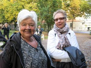Ylva Bandmann, MP, med kompisen Birgit Edesäter.