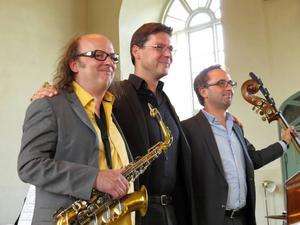 Libor Sima, Obi Jenne och Mini Schulz har spelat såväl jazz som klassisk musik under Stöde musikvecka.
