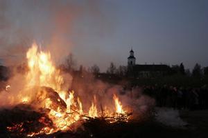 Valborgsfirandet i Bergsjö lockade många.