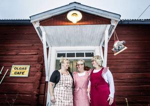 Olgas café drivs av de tre systrarna Anna-Märta Johansson, Lena Gidlund och Annica Andersson.