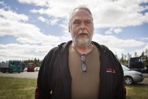 Anders Nygren är ordförande på DRC Ljusdal som arrangerar lastbilsrace på Fönebasen utanför Färila.