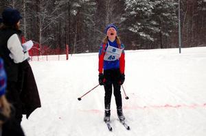 Så här skönt var det att komma i mål, tyckte Johanna Grip från Ytterhogdal.