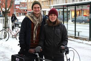Johanna Eklöf tillsammans med pojkvännen Emil Börner inför avresan.