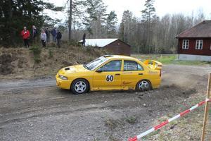 Föraren Jan Andreasson och kartläsare Christer Björnberg från SMK Örebro. Båda deltar i Trystorpssprinten på söndag.