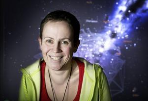 Jenny Jansson ser fram emot det stundande äventyret med fältdagar på rymdforskningsbasen på Andenes.