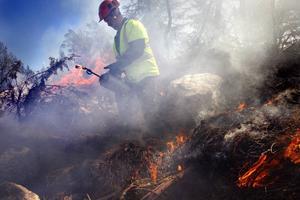 Urban Johansson deltog i fjolårets naturvårdsbränning på Innerstön.