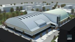 Under nya sporthallen blir det plats för en bottenvåning mot gatuplanet. Hit ska bland annat Krafft måleri flytta sin verksamhet.