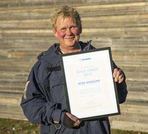 Peter Skoglund, sportchef i Älgarna har fått utmärkelsen Årets eldsjäl.