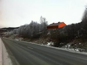 Så här kommer hästsportarenan i Åre att se ut från E14 i Björnänge.