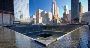 Fontänen vid Ground Zero. Nu fortsätter också arbetet med det museum där man ska kunna minnas tragedin den 11 september.