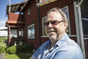 Conny Dahlström, ordförande för The Twin Club Falun njöt i det underbara hojåkarvädret.