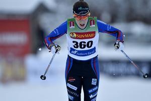 Ebba Andersson under säsongspremiären i Bruksvallarna.