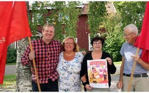 Stefan Grundberg, Eva Eriksson, Marianne Hirsch och Göran Edström är några av Socialdemokraternas kandidater i kyrkovalet. Foto: Eva Högkvist