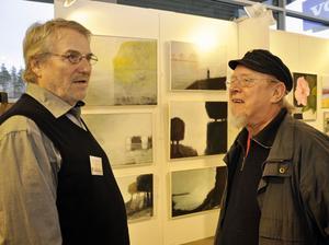 Två kulturbärare strålar samman. Till vänster Curt Berglund, Rättvik och Pelle Lindström, Leksand.