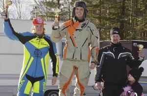Pallen i Solo: Tvåan Ken Svanberg, segrarenm David Starnberg samt tredjeplacerade Anders Michalak.