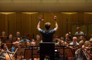 Sveriges Radios symfoniorkester repeterar i Berwaldhallen. Arkivbild. Foto: Carl Bredberg / SvD / TT