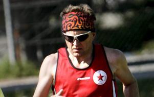 Hasse Byrén under riksmästerskapet i ultralöpning i Hallsberg 2009 (arkivfoto).