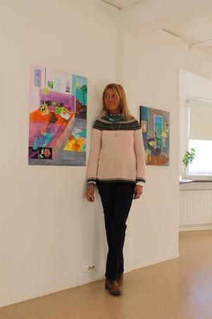 Anneli Kents målningar utgår ofta från vardagen.