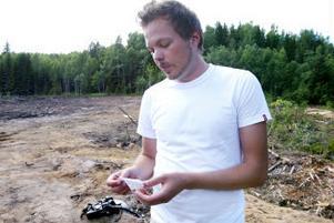 Erik Johansson är gymnasielärare och hade gärna tagit med eleverna till den här boplatsen. Synd att det är sommarlov.