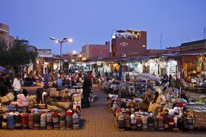 Torghandel i medinan i Marrakech.