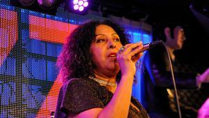 Elisabeth Kontomanou uppträdde under måndagen på jazzklubben i Sundsvall