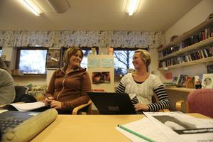 Susanne Löfdahl och Åsa Katarina Andersson, lärare på Hosjöskolan