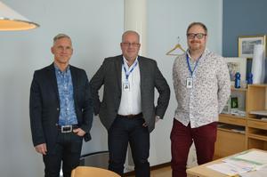 Henrik Junno, rektor, Mats Berglund, förbundschef  samt Magnus Dahlberg, samordnare vill berätta om vilka stöd NVU kan ge till elever med särskilda behov.