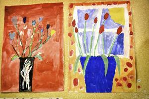 Dessa och många andra fina konstverk visades upp och såldes på Finnerödja skolans vernissage.