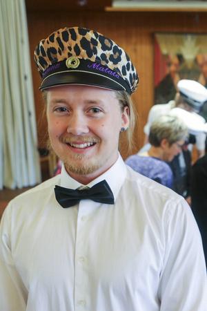 Emil Färnlund från Hede satsade på leopardmönstrad mössa.