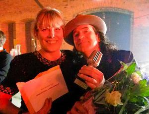 John Mitchell & Sofie Jonsson tog emot priset för Årets liveupplevelse, framröstad av DT:s läsare.