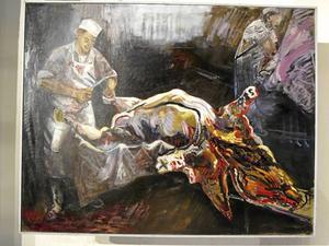 Målning från ett slakteri.